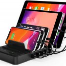 5-Port USB Charging Station Dock & Organizer,Multiple USB Charger for Smartphones, Tablets & Other