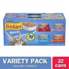 Friskies Gravy Wet Cat Food Variety Pack, Savory Shreds 5.5 Oz Cans Pack Of 32