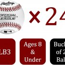 Rawlings 24  Pack Bucket Of Official Recreational Grade OLB3/R8U Baseballs