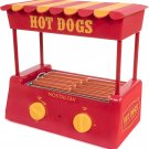 Nostalgia Hot Dog Roller Bun Warmer Adjustable Heat Machine Cooker Grill
