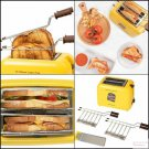 Nostalgia GCT2 Deluxe Toaster with Extra Wide Slots, Grilled Cheese Sandwich