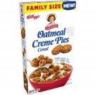 KELLOGG'S FAMILY SIZE LITTLE DEBBIE OATMEAL CREAM PIES CEREAL 14.5 OZ BOX