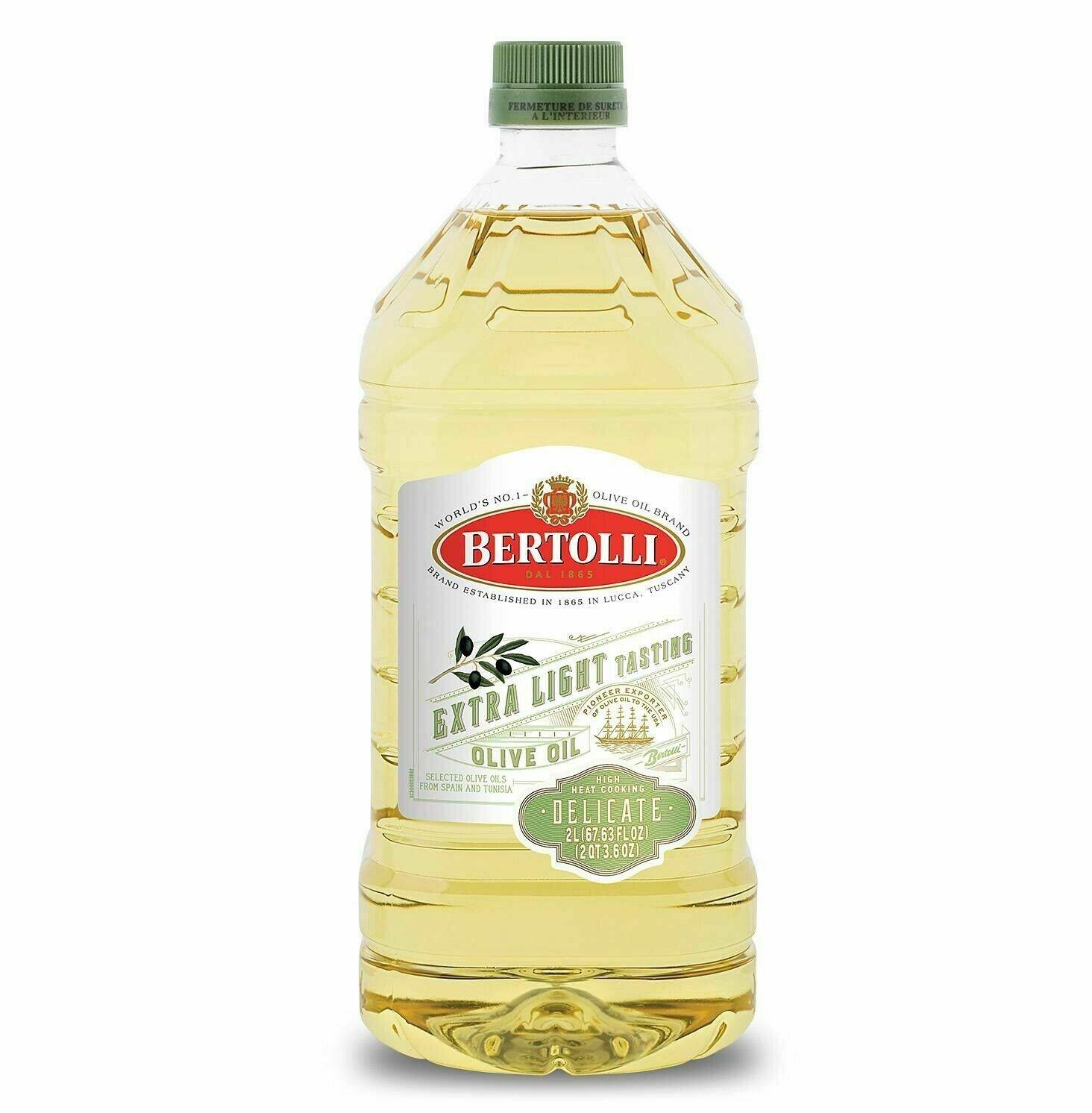 Bertolli Delicate Extra Light Olive Oil 2 liters/ 68 oz