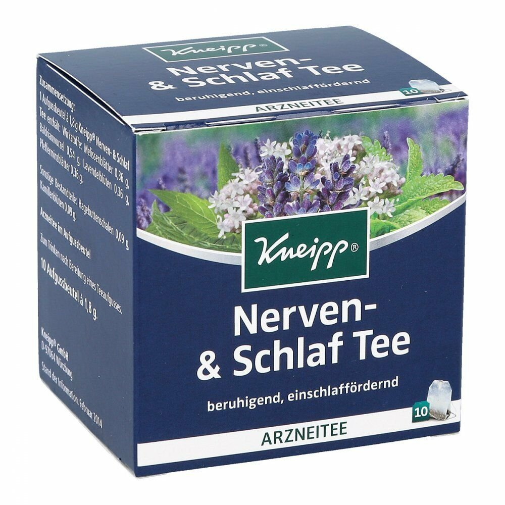 2 boxes Kneipp Herbal Tea: nervousness and sleep disturbances Made in Germany