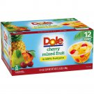 24 Cherry Mixed Fruit Bowl  in 100%  4 Ounce Cups Fruit Juice, 12 Count, X 2- Gluten free