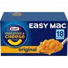 2X 18 Kraft Easy Mac Original Flavor Macaroni and Cheese Meal (18 Pouches) X2
