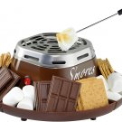Nostalgia Indoor Electric Stainless Steel S'mores Maker with 4 Compartment Trays