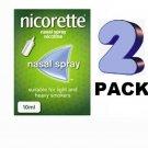 2 PACK Nicorette Nasal Spray - 10ml  From UK