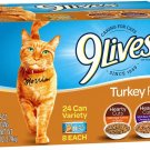 24 9Lives Poultry And Beef Favorites Variety Pack Cat Food 5.5 Ounce Pack Of 24