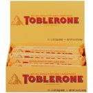 TOBLERONE Swiss Milk Chocolate with Honey and Almond Nougat, 1.23 Ounce (Pack of 24)