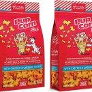 2 X Pupcorn Healthy Dog Treats Cheese Flavor, NET Wt. 16 Oz