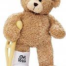 Broken Leg Bear Get Well Soon Teddy Bear with a Cast, Crutch and Signature Cast 8.5 inches
