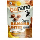 Chewy Banana Bites - Peanut Butter - 3.5 Ounce, 6 Pack Bites -