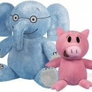 YOTTOY Mo Willems Collection |  Pair Of  Elephant & Piggie Soft Stuffed Animal Plush Toys