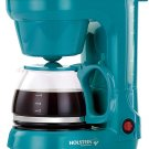 Pop  Color Decor Housewares, 5-Cup Coffee Maker, Red, Mint, Teal