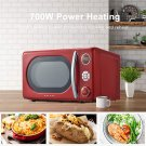 POP Color Microwave Oven, LED Lighting, Pull Handle Design,  ,Retro Red, or Blue0.7 Cu.Ft