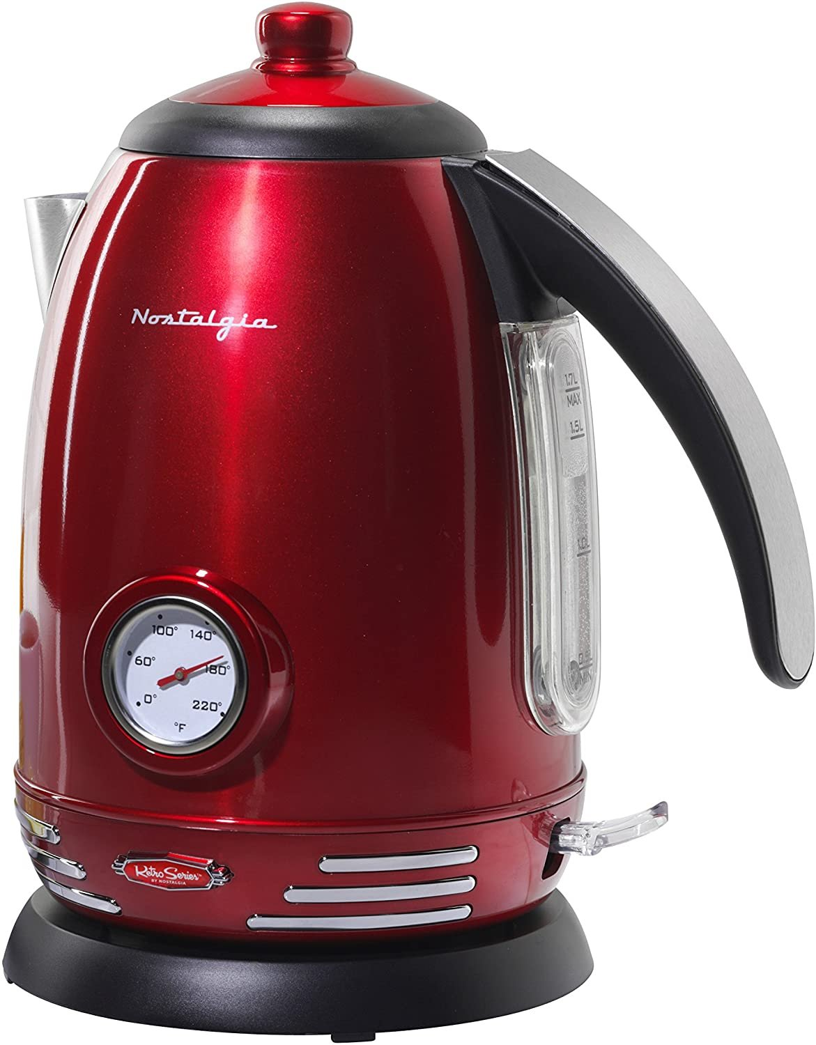 Ultra fast  Red  Wireless 7-Cup Electric Kettle  -1.7 liter auto shut off