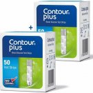 Bayer Contour Plus Blood Glucose Test Strips 50ct PACK OF 2