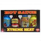 BBQ LOVER GIFT SET Ass Kickin Extreme Heat Mini Hot Sauce 4 Pieces FRom UK