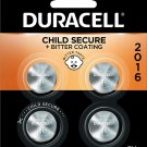 Duracell - 2016 3V Lithium Coin Battery- 4 count