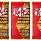 3X KIT KAT Caramel Cappuccino Flavor Chocolate Bars Kitkat 3 x 112g From Europe