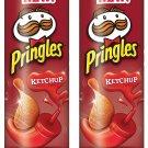 2 x Pringles Potato Chips, Ketchup, 156 Grams/5.50oz (2 Pack) From canada