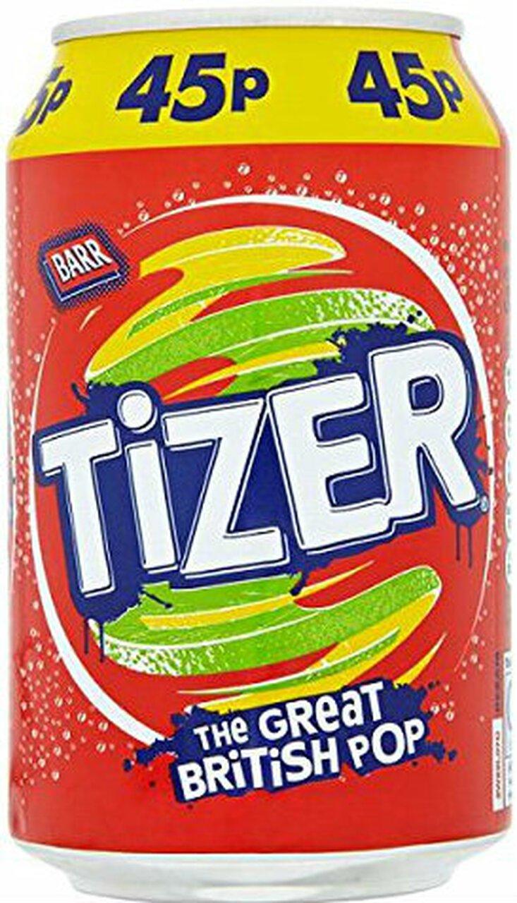 Tizer Fizzy Drink 330Ml - 12 cans -British mini market