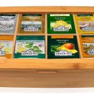 Ahmad Tea Bags case -60 COUNT -   Variety Pack in Bamboo Gift Box British Mini Market