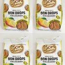 4 x4 x BON CHANCE Chili & Lemon Flavor Oven Baked Bread Crisps Snacks Bites 70g -From Europe