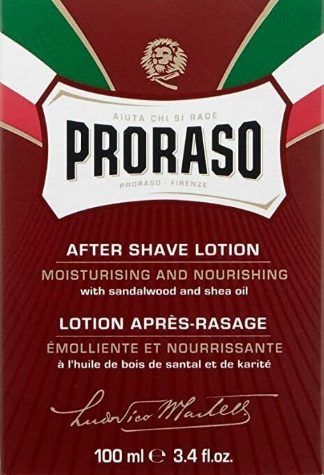 2X Proraso After Shave Lotion with Sandalwood and Shea Butter, 3.4 fl oz