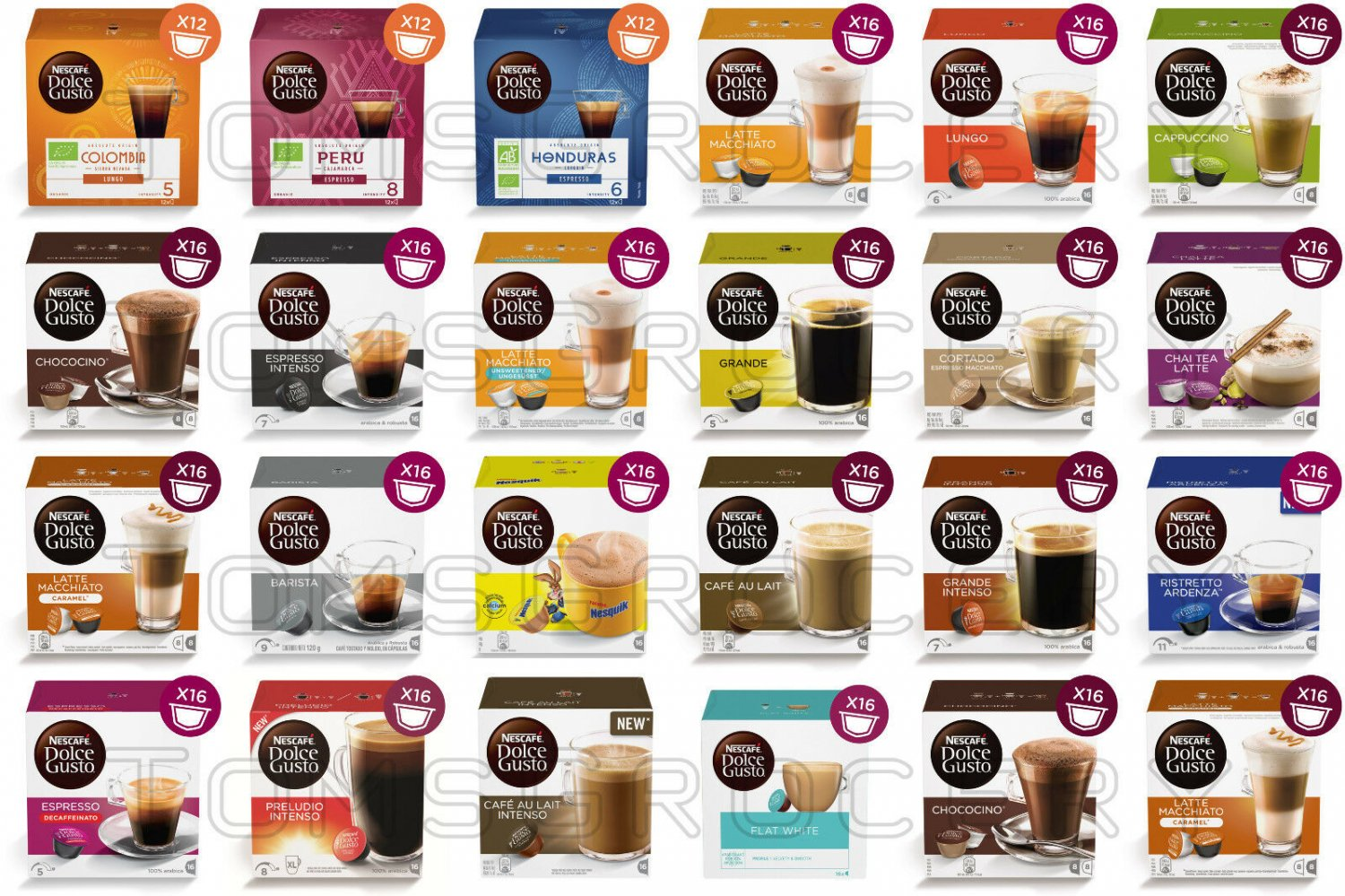 NESCAFE Dolce Gusto Cups Coffee Pods Variety From Germany