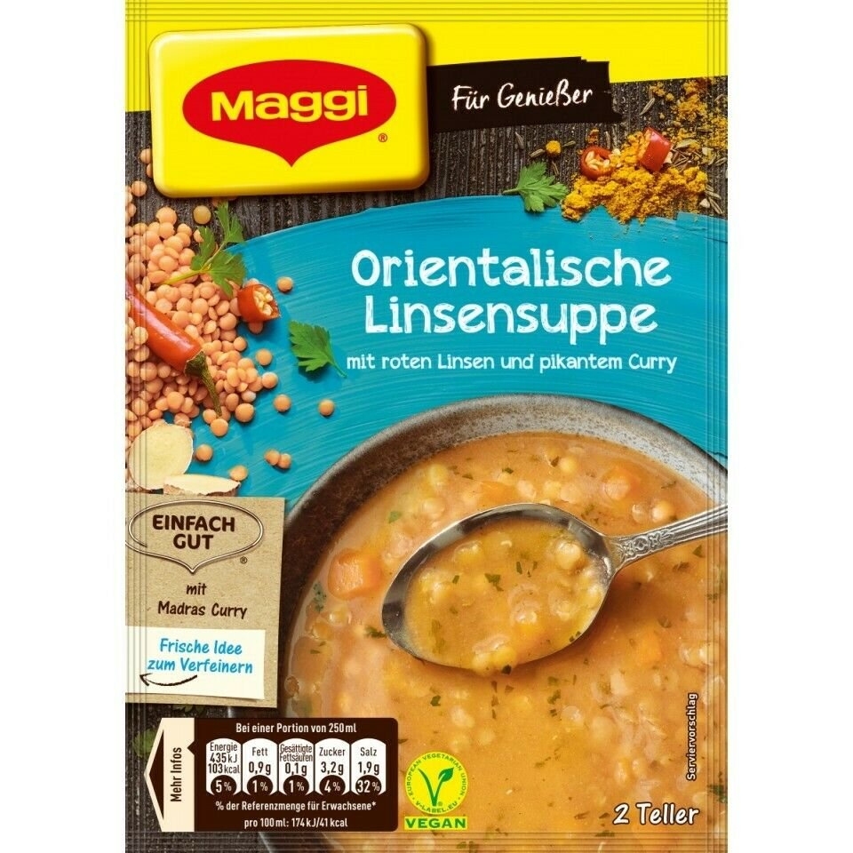 5 x Maggi5 x Maggi Oriental lentil soup /Orientalische Linsensuppe from germany