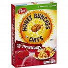 4 Boxes Honey Bunches Of Oats with Real Strawberries Cereal 13 oz Post