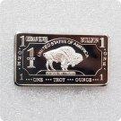 German Mint 1 Troy Ounce Buffalo German Silver Bullion Bar Replica