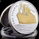 The Voyage Titanic Ship and Travel Map Gold Plated&Clad Coin Rms Gold Commemorative