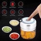 100/250ml Electric Mini Garlic Crusher Portable Chopper USB  Ginger Chili Vegetable Masher Machine