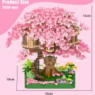 Japanese City Mini Friends Cherry Blossom House MOC ideas Sakura House Blocks Inari Shrine Brick