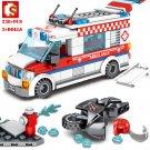 Medical Ambulance Car Building Block Friends City Fire Control