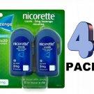 4 x Nicorette Cools 2mg Lozenge ICY MINT 4X20 Lozenges -(320 PCs) From UK