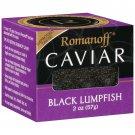 Romanoff Caviar, Black Lumpfish, 2 Oz., (Pack of 3) Fresh Inventory