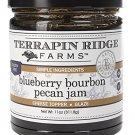 Gourmet  For Berries Lover -Terrapin - :  Blueberry Bourbon Pecan Jam–  Cheese Topper 11 oz