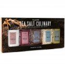 Cool Gift Set, Culinary Sea Salt Gift Set, Flavors Include Truffle, Merlot, Rosemary