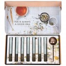 Cool Gift Set, Tea Therapy Tea Infusion Gift Set, Includes 7   Flavored Loose Leaf Teas +Tea Infuser