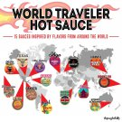 Cool Gift Set, World Traveler Hot Sauce Gift Set, 3 Ounces Each, Includes 15 Exotic