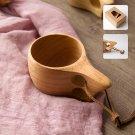 Handmade Water Coffee Mug Rubber Wooden Tea Milk Cups Juice Milk Water