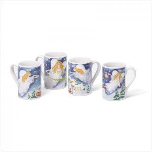 Discount Christmas Shopping: Christmas Angel Mugs 12 oz Set of 4