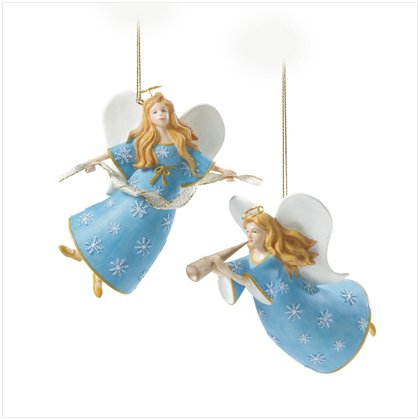 Discount Christmas Shopping: Christmas Angel Ornaments Set of 2