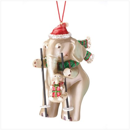 Discount Christmas Shopping: Christmas Elephant with Baby Ornament