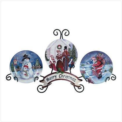Discount Christmas Shopping: Christmas Plate Set with Rack
