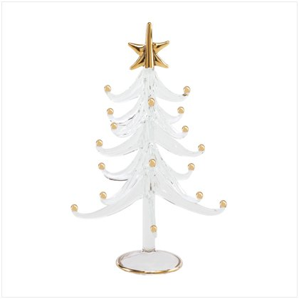 Discount Christmas Shopping: Christmas Tree with Gold Trim